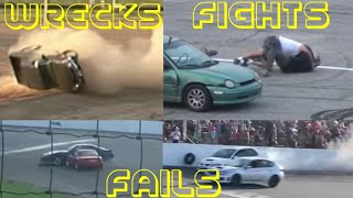 Spectator Drags Wrecks Fights and Fails| Crash Compilation| Oval Crowd Race