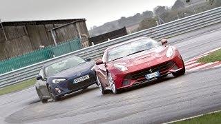 Ferrari F12 Berlinetta Vs Toyota Gt86 - Which Is More Fun?