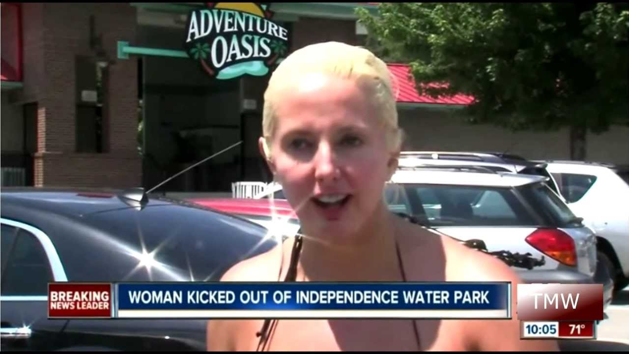lady kicked out of water because of swimsuit - YouTube