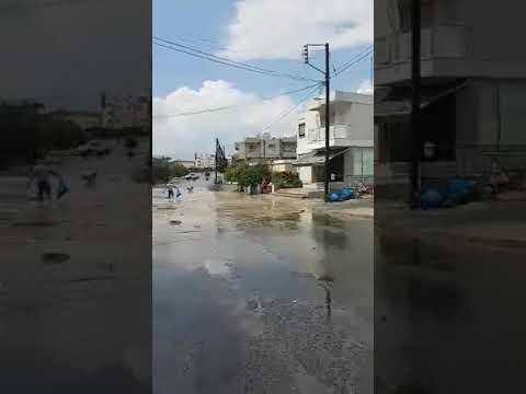 Πλημμύρισε η Βασιλέως Κωνσταντίνου Τσίρειο/Λεμεσός 17/6/2019