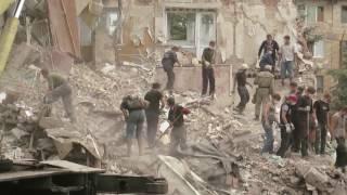 Последствия авиаудара ВСУ по жилому дому в г. Снежное (15 июля 2014 г.)