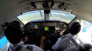 B100 Landing - EGPWS - TERRAIN TERRAIN - PULL UP!!