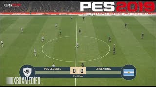 PES 2019 Gameplay PES Legends vs Argentina (Xbox One, PS4, PC)