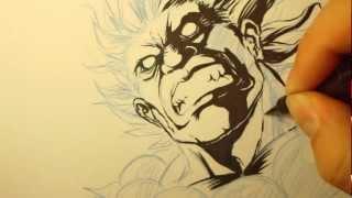 Gouki Time-Lapse Drawing part 1