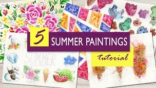 5 Easy Watercolor Painting Projects : Fun Art Ideas for Summer