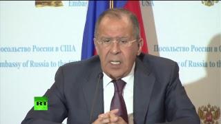 Пресс-конференция Сергея Лаврова по итогам его переговоров в Вашингтоне