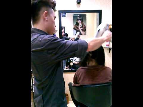 Sấy tóc xoăn đẹp..