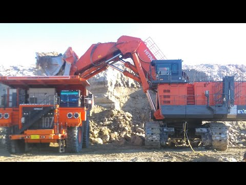 Hitachi EX5600 #excavator#mine#plates# in turkey