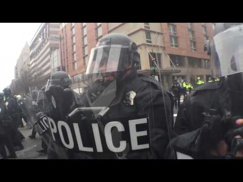 Clashes between Trump Inauguration protesters and DC police
