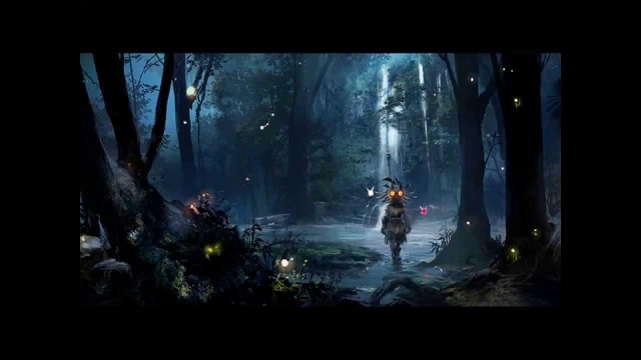 Cartoon Woods Background