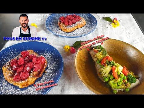 tous-en-cuisine-#7-:-je-teste-le-poisson-au-four-et-le-pain-perdu-aux-framboise-de-cyril-lignac-!