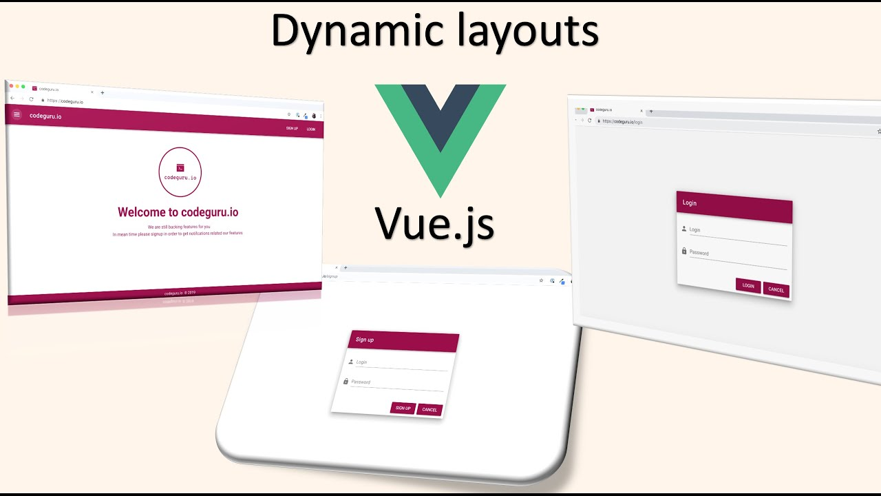 How to create dynamic layouts in Vuejs application (EP-5)
