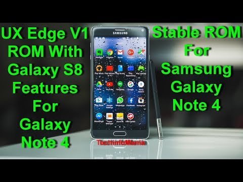 UX Edge S8 Rom on Galaxy Note 4