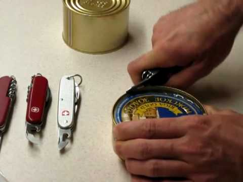 How To Correctly To Use Victorinox Amp Wenger Can Openers