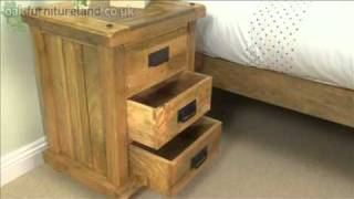 Baku Light Mango 3 Drawer Bedside Cabinet From Oak Furniture Land