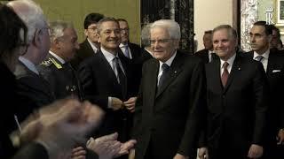 Mattarella alla Banca d'Italia per la presentazione degli scritti Einaudi