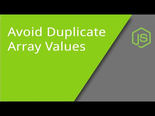 Avoiding Duplicate Array Values