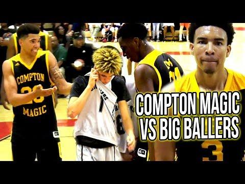 Big Ballers VS Compton Magic FULL GAME  - Compton Magic BULLY LaMelo & Talk SH!T in HUGE BLOWOUT!
