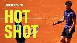 Mardid Open dubbels: Thiem verliest racket en wint