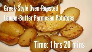 Greek-Style Oven-Roasted Lemon-Butter Parmesan Potatoes Recipe