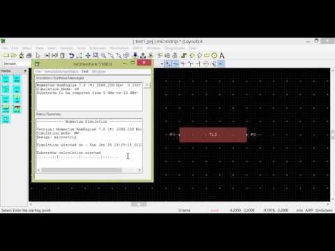 ADS (Advanced Design system) TUTORIAL-Microstrip Line Design