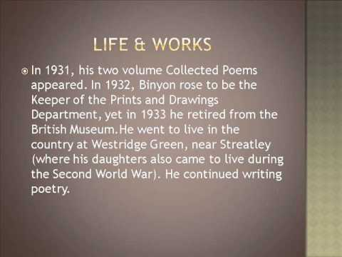 Robert Laurence Binyon Life & Works
