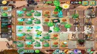 Plants vs Zombies 2: Ancient Egypt Day 28 Walkthrough