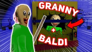 Granny Becomes OBSESSED WITH BALDI!!! (She Likes Him) | Granny The Mobile Horror Game (Mods)