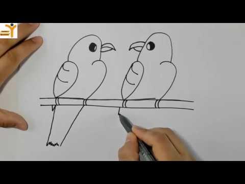 Sayilardan Hayvan Cizimi Easy Drawing To Birds Yardimci Ogretmen