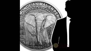 Ivory Coast 2016 BIGGEST SILVER COIN IN THE WORLD AFRICAN ELEPHANT 1,000,000 Francs 56 Kilo 1750 oz