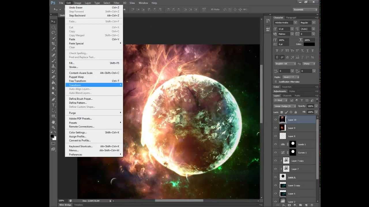 Space art tutorial adobe photoshop cs6 youtube for Space art tutorial