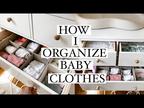 How I Organize Baby Clothes & Changing Table! 2020 (Ikea Hemnes Dresser) - YouTube