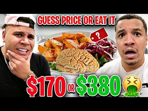 Guess The PRICE Or EAT IT Challenge!! (Impossible Food Challenge) FT WOLFIE
