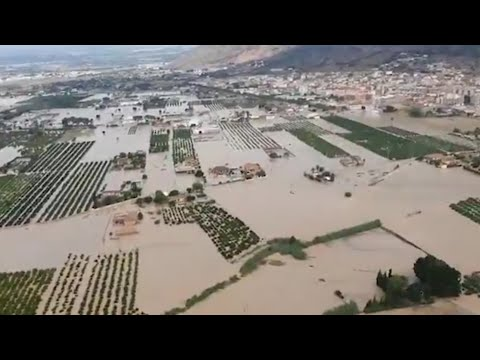 La DANA inunda Orihuela y la comarca de la Vega Baja en Alicante