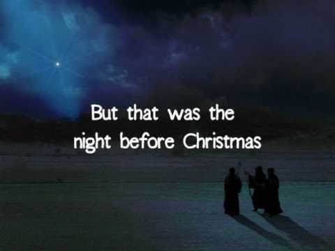 picture relating to Twas the Night Before Jesus Came Printable identify The Night time Ahead of Xmas - Brandon Heath With Lyrics