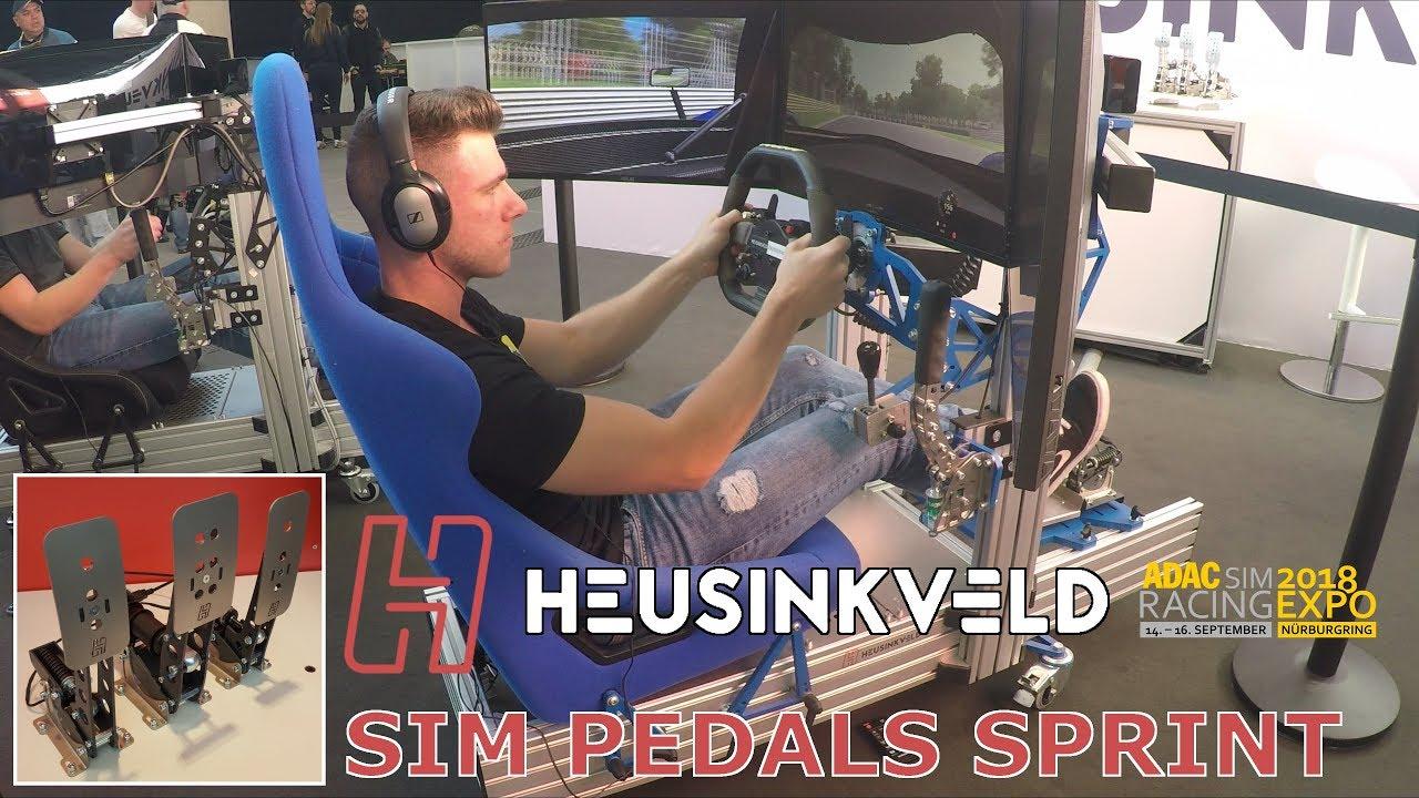 Heusinkveld Sprint Pedals + Sim Rig GT Simulator - SimRacing Expo 2018