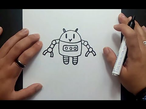 Como dibujar un robot paso a paso 2  How to draw a robot 2  YouTube