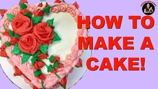 How to Make a Cake របៀបធ្វេីនំខេក-Coconut Cake , Coconut Custard Filling, and Coconut Icing