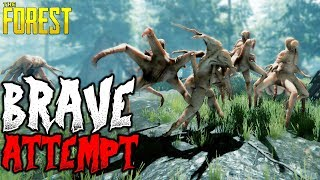 The Forest | THE BRAVE ATTEMPT | 1 Life Challenge 8 | HARD SURVIVAL