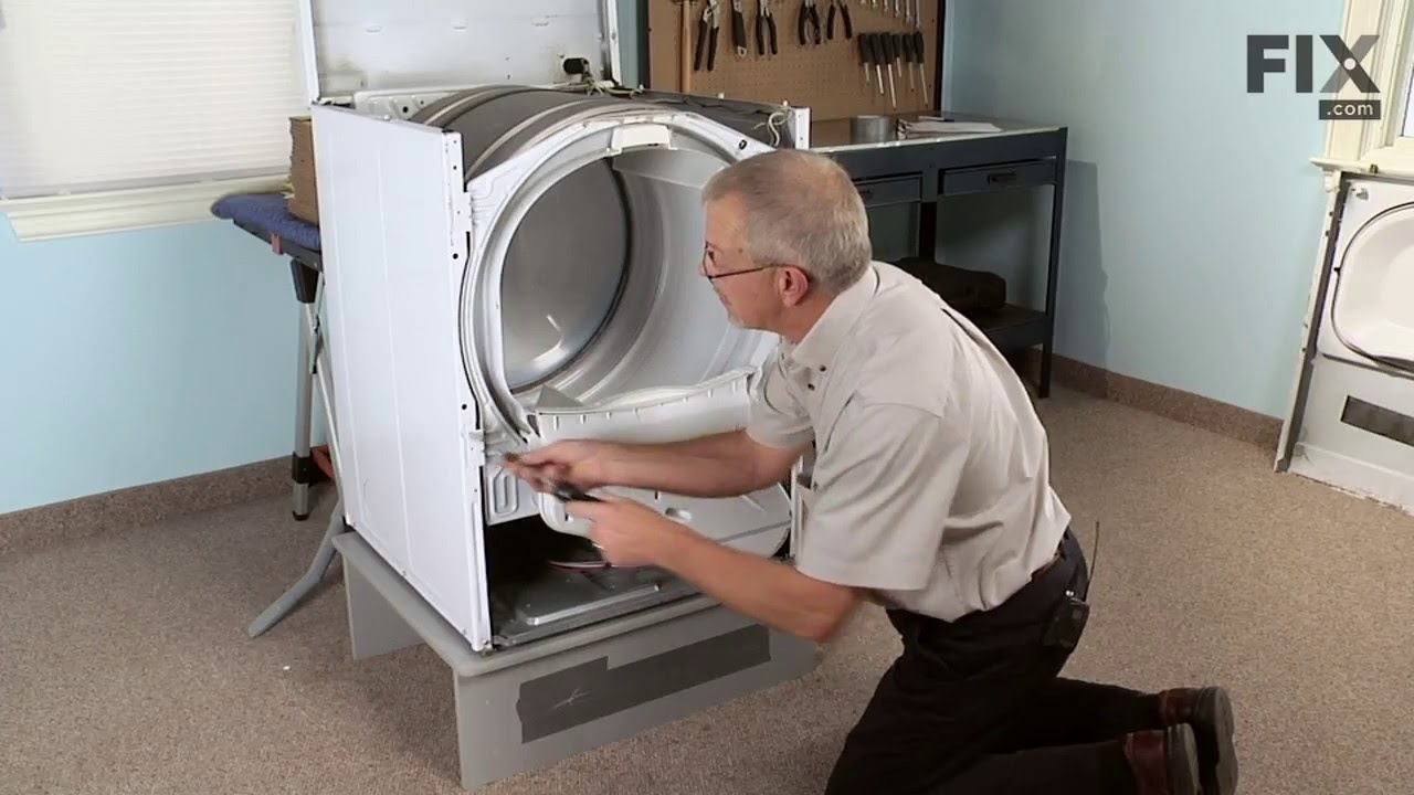 Amana Dryer Repair – How to replace the Multi Rib Belt  YouTube