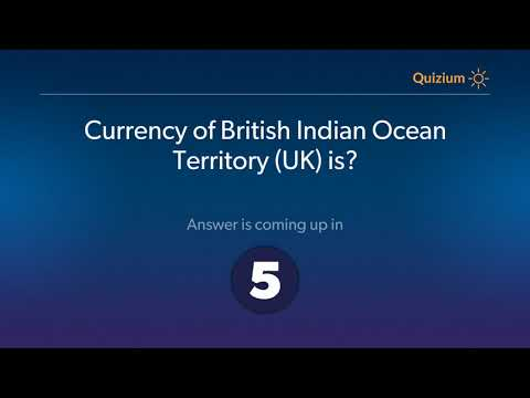 Currency of British Indian Ocean Territory UK is?   Countries and Currencies Quiz