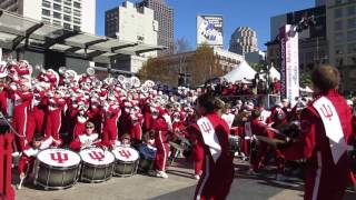 Indiana University Marching Hundred Foster Farms Bowl Pep Rally Union Square San Francisco 2016