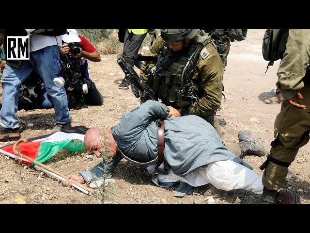 Elderly Palestinian Man Brutalized by Israeli Occupation Forces