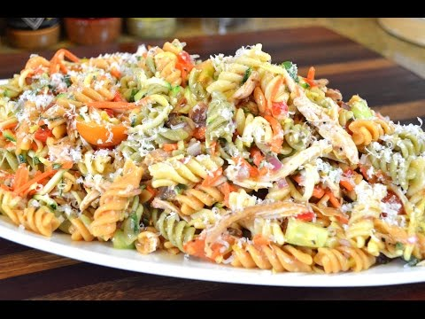 chicken-and-vegetable-pasta-salad-recipe- -cooking-with-carolyn