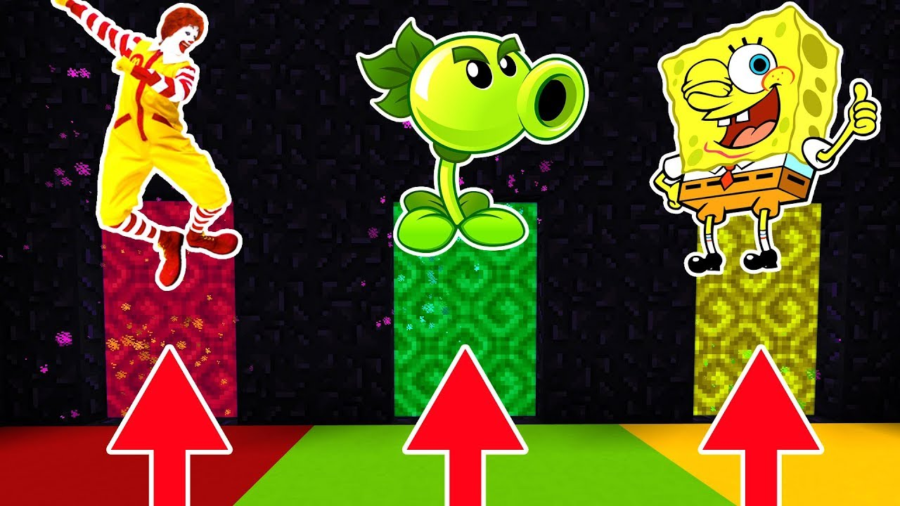 Jeff The Killerexe Roblox - Do Not Choose The Wrong Portal Ronald Mcdonald Plants Vs Zombies Spongebob