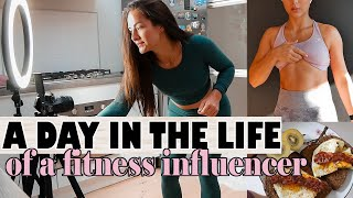 A DAY IN THE LIFE OF A FITNESS 'INFLUENCER' | at home edition