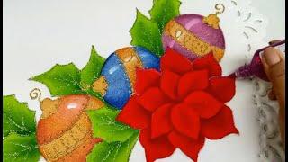 Pintura textil, tutorial de pintura en tela para navidad 2018