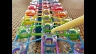 Repeat youtube video Como fazer Pulseira de elastico Rainbow Loom passo a passo