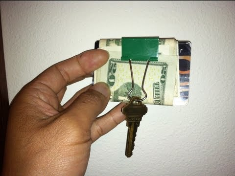 How To Use A Binder Clip As Wallet & Key Holder