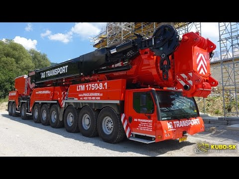 LIEBHERR LTM 1750-9.1 - the BIGGEST mobile CRANE in the Czech and Slovak Republic